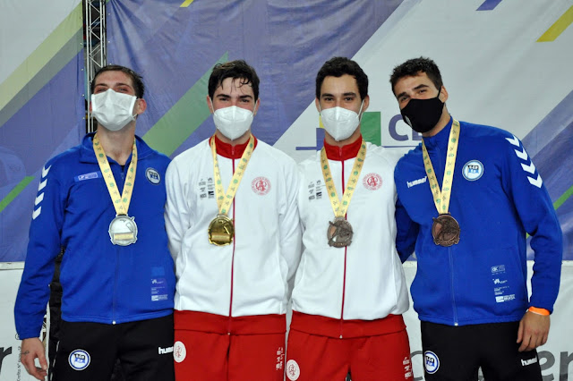 Da esquerda para a direita: Enrico Pezzi (prata), Murilo Garrigós (ouro), Henrique Garrigós (bronze) e Bruno Pekelman (bronze).