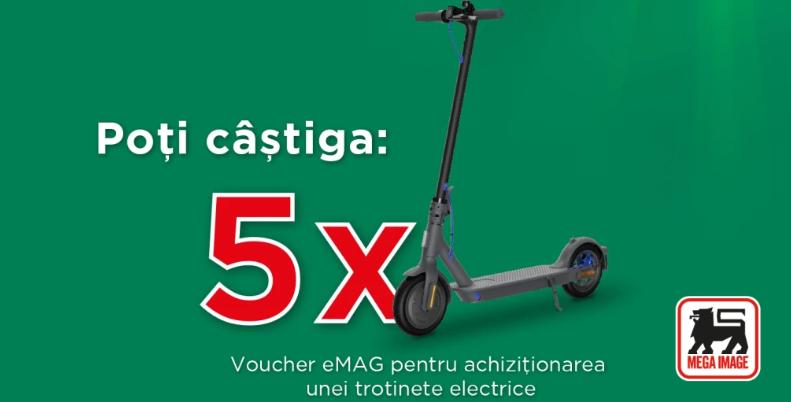 Concurs - Castiga trotinete electrice - emag - voucher - concursuri - online - premii