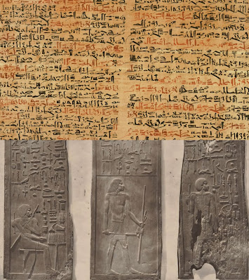 Edwin Smith papyrus and Hesy-Ra was named as the greatest of those who deal with teeth and of physicians