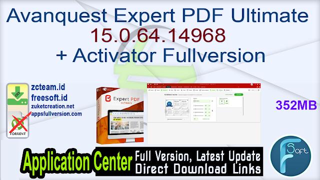 Avanquest Expert PDF Ultimate 15.0.64.14968 + Activator Fullversion