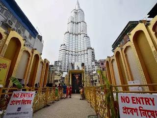 कोलोकाता: बहुत ज्यादा भीड़ के चलते बंद हुआ 'बुर्ज खलीफा' दुर्गा पूजा पंडाल, लेजर शो भी बंद हुआ