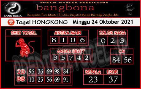 Prediksi Bangbona HK Minggu 24 Oktober 2021