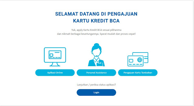 Pengajuan Kartu Kredit BCA Lewat BCA E-FORM