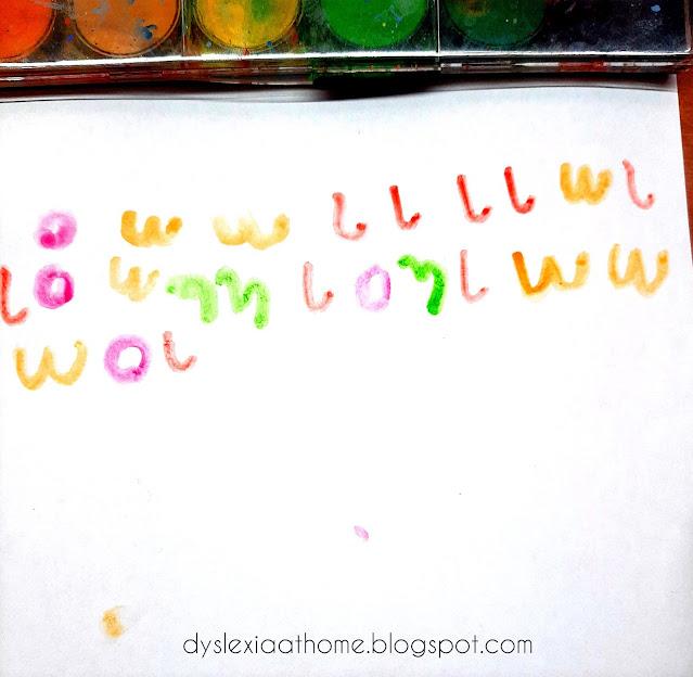 ορθογραφία, χρώματα, δυσλεξία