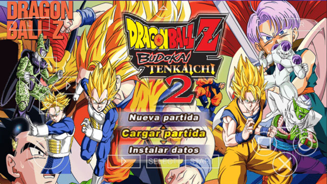 تحميل لعبة دراغون بول زد بودوكاي تينكايشي Dragon Ball Z Budokai Tenkaichi 2 للأندرويد على محاكي PPSSPP