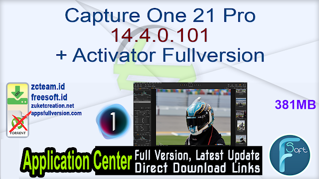 Capture One 21 Pro 14.4.0.101 + Activator Fullversion
