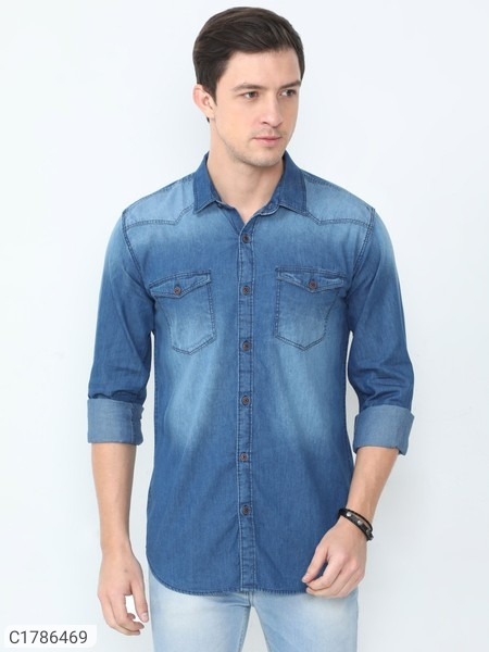 Denim Full Sleeves Shirts For Men | Mens Denim Shirts Online Shopping | Shirts For Men |