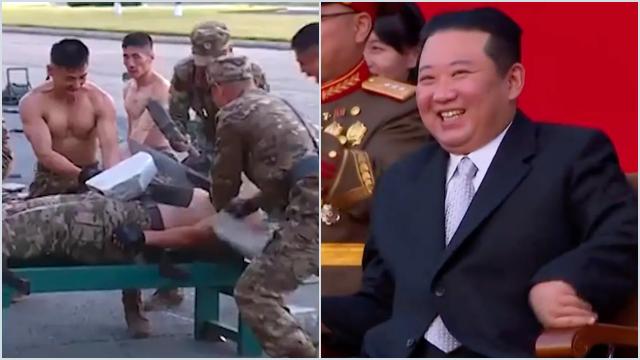 Kim Jong Un Melongo Menyaksikan Militer Korut Unjuk Kekuatan Fisik, Nih Videonya