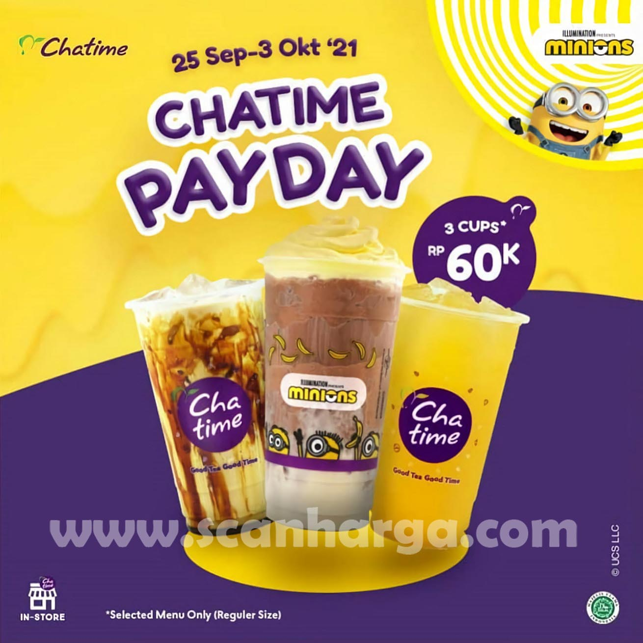 CHATIME PAYDAY Promo Spesial GAJIAN - 3 Cup Cuma 60RB Aja