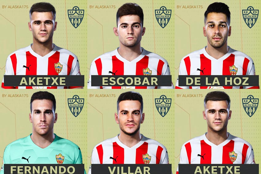 Facepack UD Almería 20-21 For eFootball PES 2021