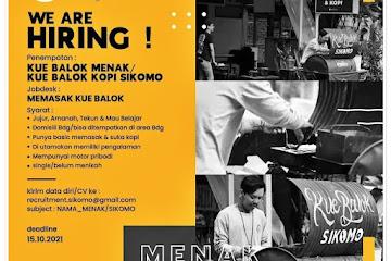Loker Bandung Jaga Stand Kue Balok Sikomo