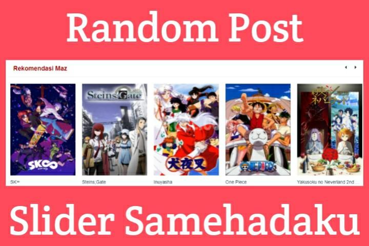 Random Post dengan Slider (Blogger)