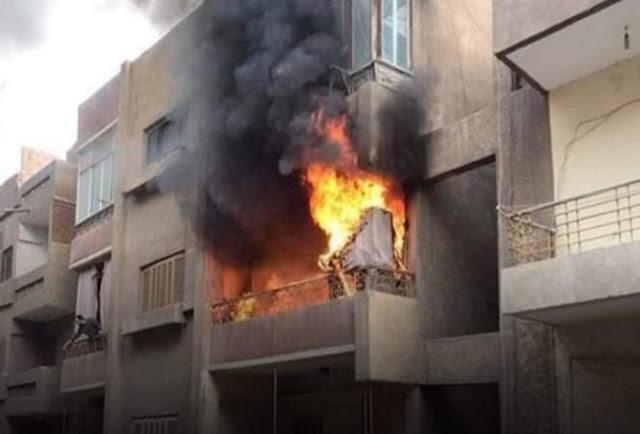 إخماد حريق فى شقة بسوهاج دون إصابات
