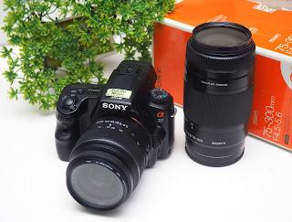 Sony A37 + Lensa Tele Sony 75-300mm Bekas