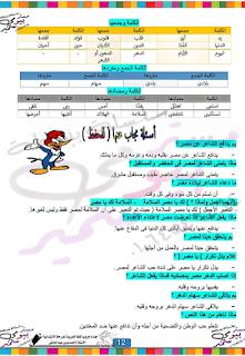 بوكليت لغة العربية الصف الرابع الابتدائى الترم الأول