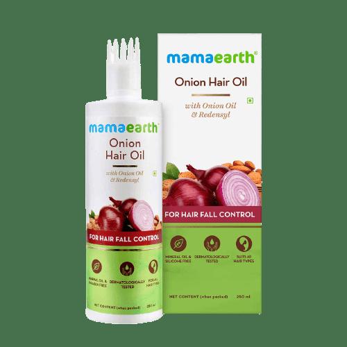Mamaearth Onion Hair Oil For Hair Growth | Best Onion Hair Oil For Hair Growth