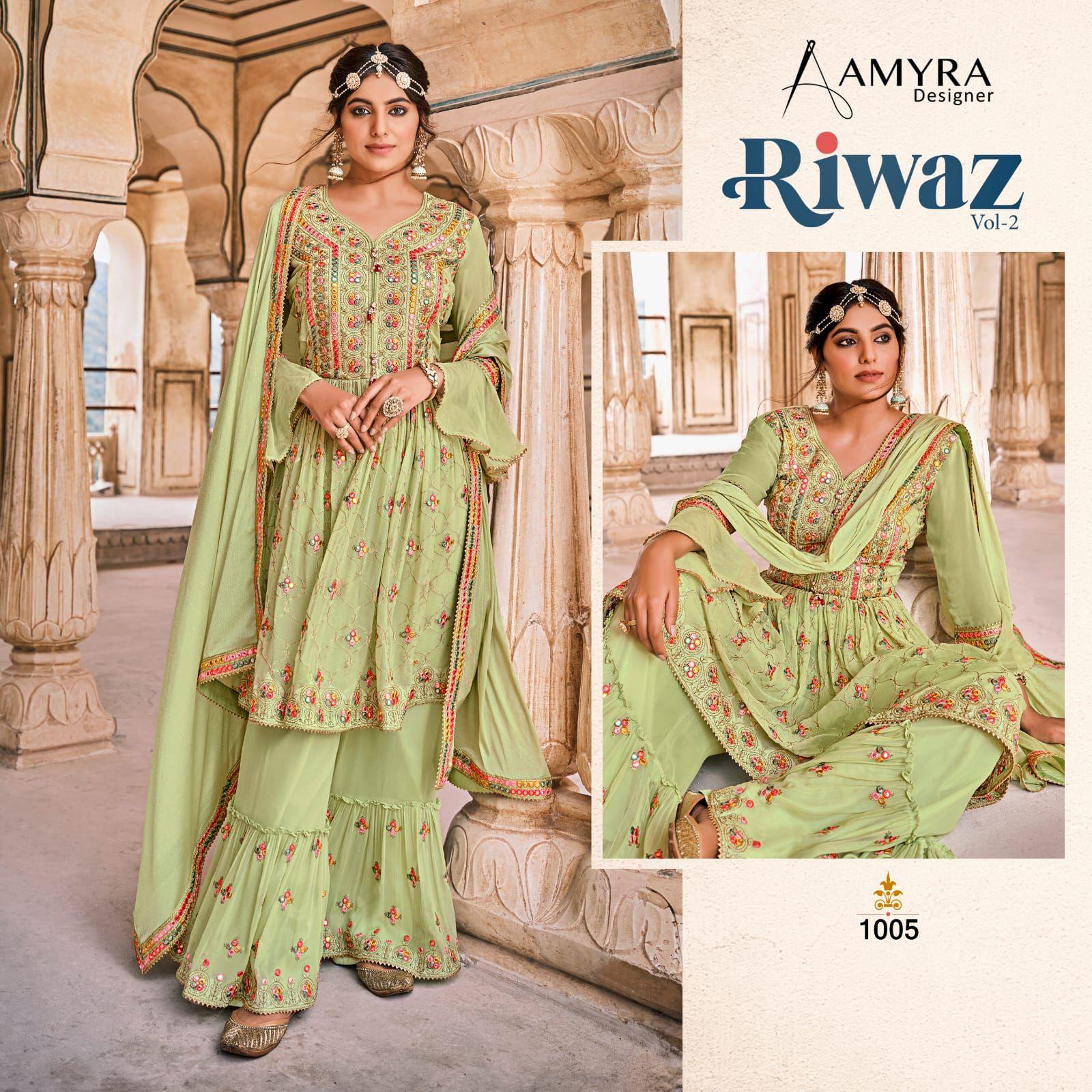 Aamyra Designer Riwaz Vol 2 Sharara Style Suits Catalog Lowest Price