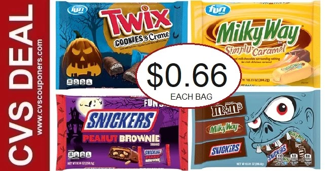Score Mars Fun Size Candy Bags for $0.66