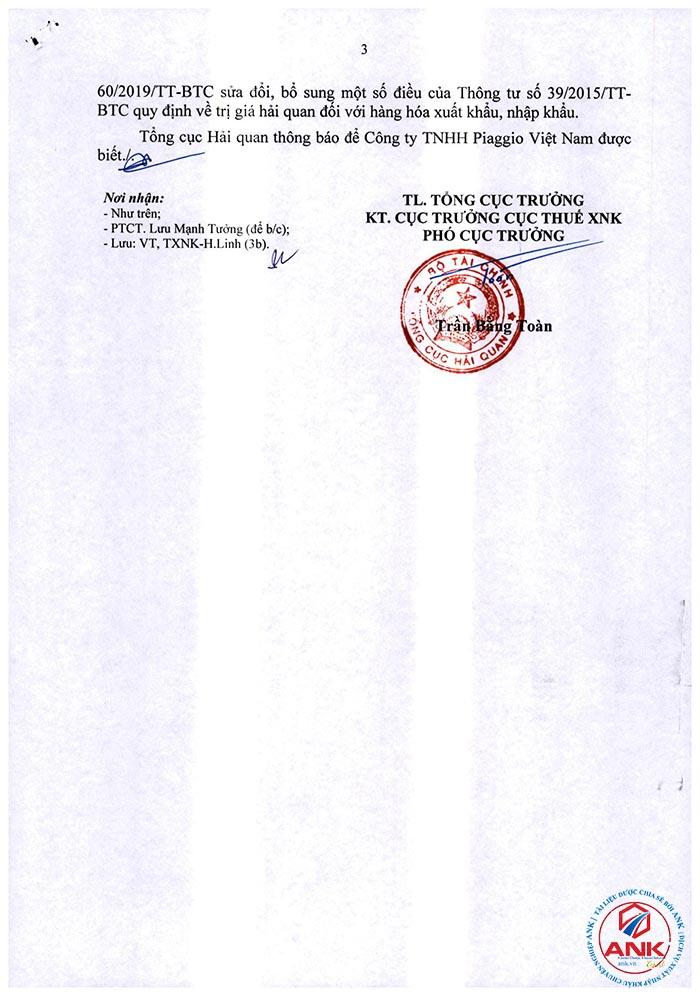 4783/TCHQ-TXNK ngày 08/10/2021 - Xử lý thuế hàng hóa SXXK được phép tiêu hủy.