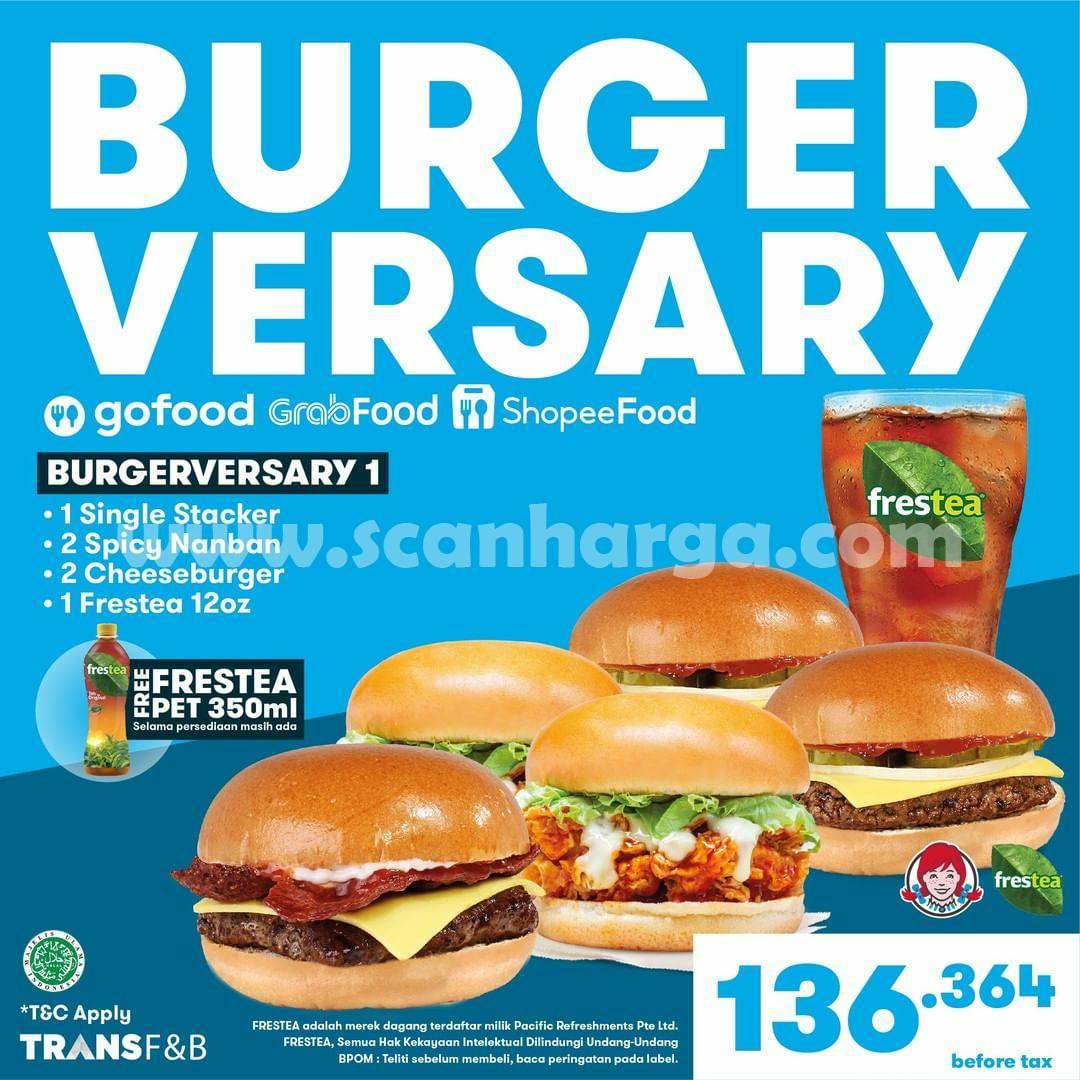 Promo WENDYS BURGERVERSARY Harga cuma 99 Ribu untuk 5 Burger 2