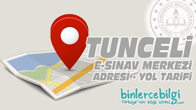 Tunceli e-sınav merkezi adresi, Tunceli ehliyet sınav merkezi nerede? Tunceli e sınav merkezine nasıl gidilir?