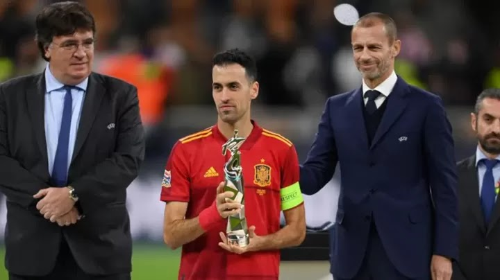 Sergio Busquets has been named 2021 UEFA Nations League Player of the Finals