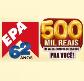 Aniversário 2021 EPA 62 Anos Supermercados 500 Mil Reais