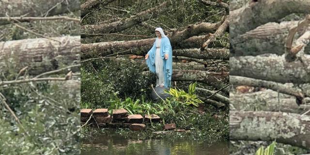 Patung Maria Utuh Setelah Badai Ida Menarik Perhatian di Web