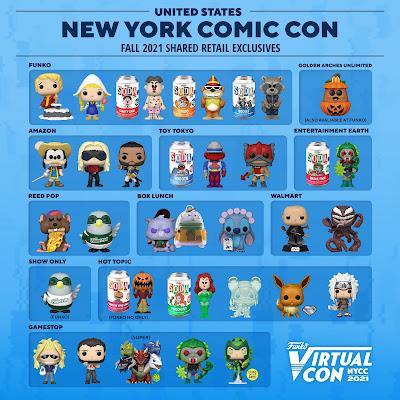 New York Comic Con 2021 Exclusive Funko Pop! & Vinyl Soda Figures