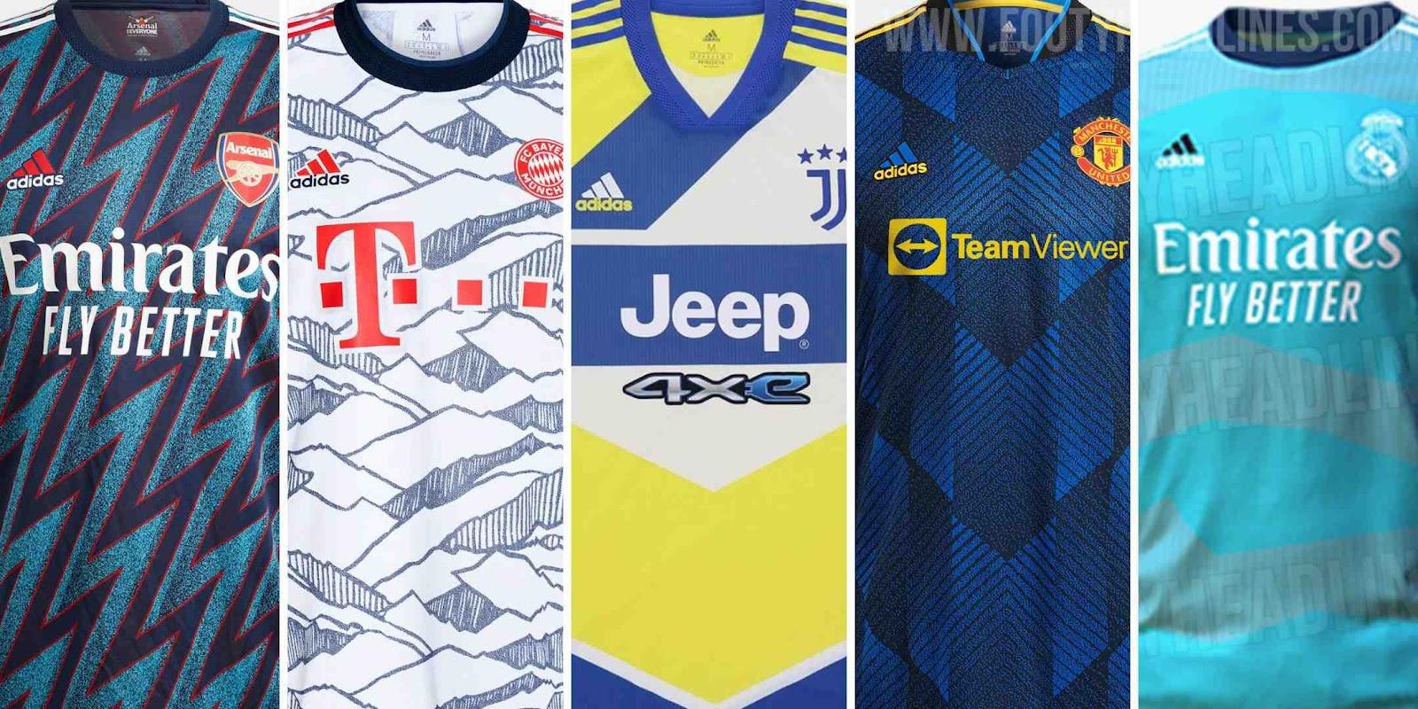 Adidas 21-22 Elite Teams EQT Third Kits Released - Real Madrid ...