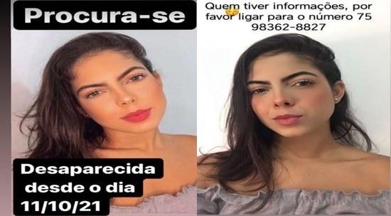 Bahia: Jovem está desaparecida depois de sair de casa em Coité