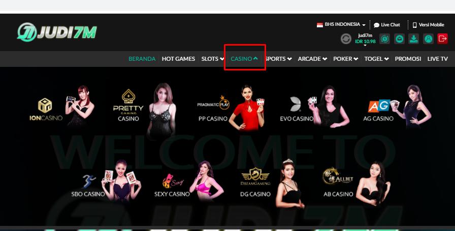 daftar game casino judi7m
