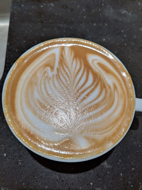 A picture of some latte art I poured in real life.