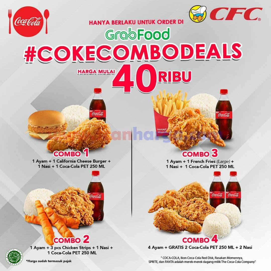CFC Promo COKE COMBO DEALS GRABFOOD harga mulai 40Ribu