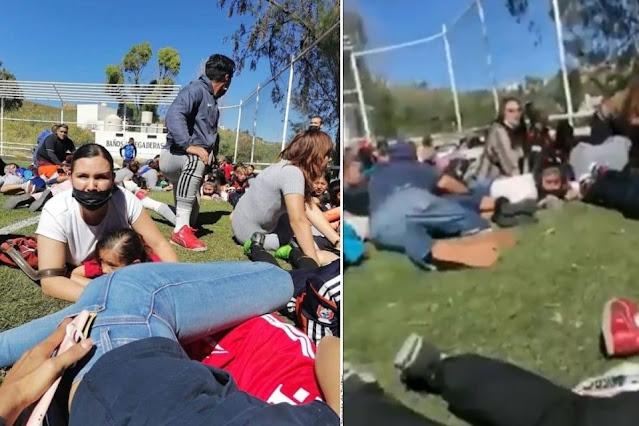 Video: No se paren, No se paren! gritaban en campo de futbol, mientras sicarios tiraban su famosa emboscada a Policías