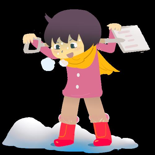 汗だくで雪かき