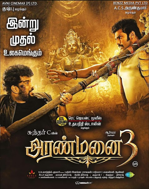 Download Aranmanai 3 (2021) Tamil PreDVD Full Movie Free