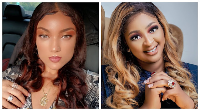 Shut up, Is your baby daddy not showing you and your daughter love abi wetin dey hold your fingers from celebrating yours- Gifty fires back at etinosa