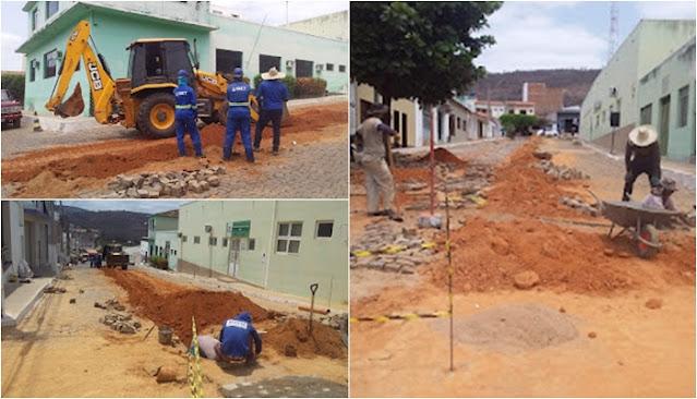 Abaíra/BA: Obras de construção da primeira etapa do Sistema de Esgotamento Sanitário da cidade anda a todo vapor