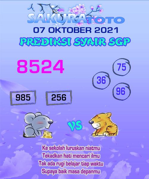 sakura SGP Kamis 07 Oktober 2021