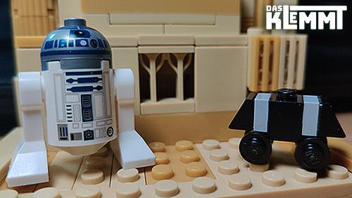 Minifigur R2-D2 und MSE-6 - www.dasklemmt.de