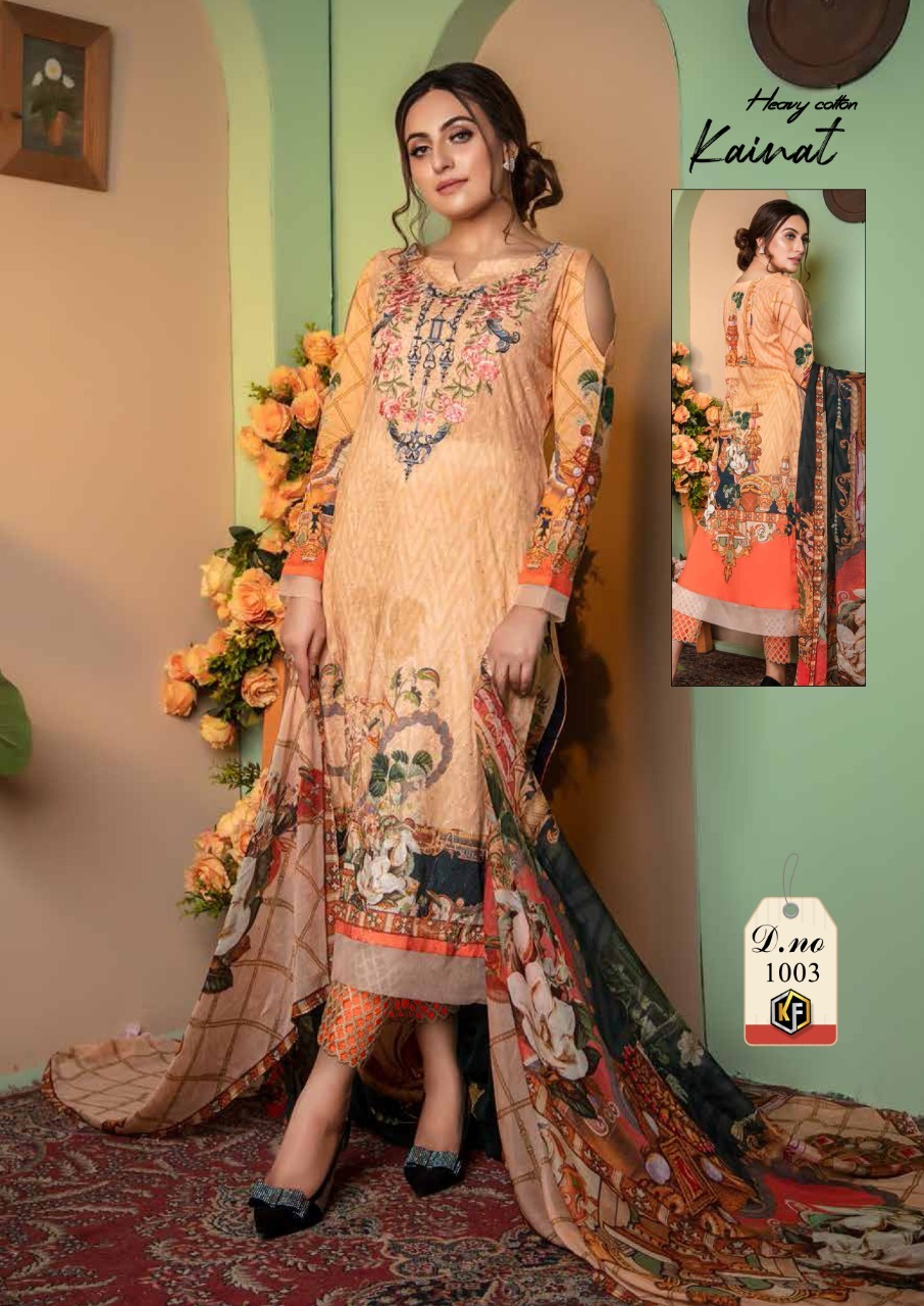 Keval Fab Kainat Luxury Cotton Collection Vol 1 Cotton Dress Material Catalog Lowest Price