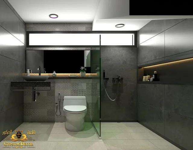 حمامات صغيرة المساحة بالسيراميك