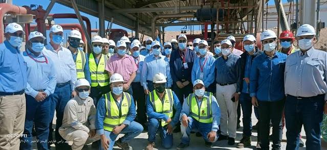 وزير البترول  والثروة المعدنية يقوم بجولة تفقدية لمنطقتى خليج السويس ورأس غارب البترولية بالبحر الأحمر