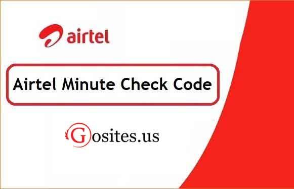 এয়ারটেল মিনিট চেক   Airtel Minute Check Code 2021