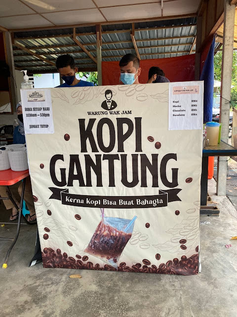 Kopi Gantung Wak Jam, Lorong Puyuh (Kuala Langat)