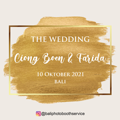 10092021 THE WEDDING CIONG BOEN & FARIDA AT BALI
