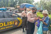 Polres Serang Salurkan Bansos kepada Warga Terdampak Pandemi