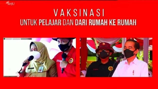 Menangis, Kepsek SMAN 5 Pekanbaru Curhat ke Jokowi Rindu Sekolah Tatap Muka