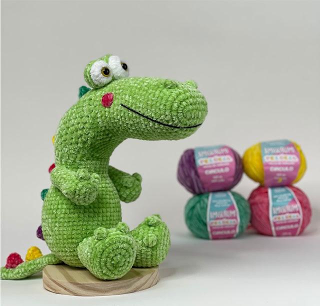 Receita Crocodilo Dino em Amigurumi